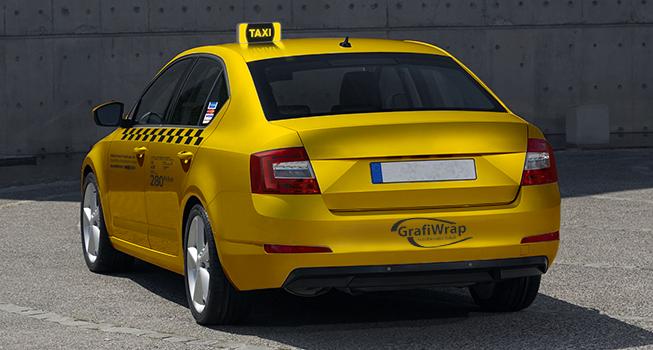 taxi hátulról